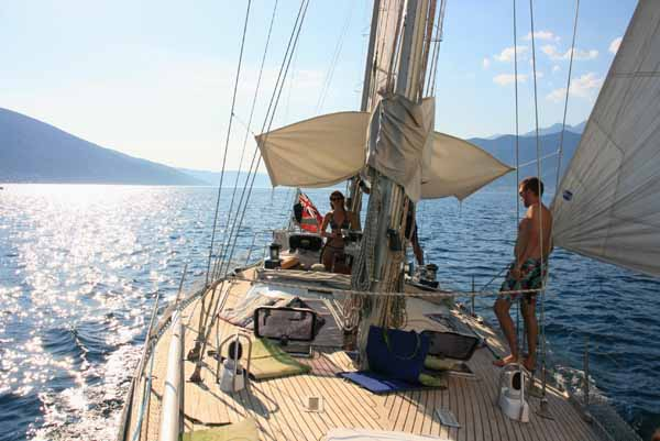Sailing trips on Yacht Monty B in Tivat Bay Montenegro